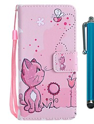 cheap -Case For Huawei P20 lite / Huawei P smart Wallet / Card Holder / with Stand Full Body Cases Cat Hard PU Leather for Huawei P20 / Huawei P20 lite / P10 Lite