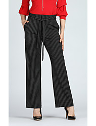cheap -Women's Basic / Street chic Suits / Wide Leg Pants - Striped