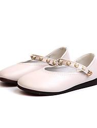 economico -Da ragazza Scarpe PU (Poliuretano) Autunno inverno Scarpe da cerimonia per bambine Ballerine Footing Fibbia per Bambino Bianco / Nero / Rosa