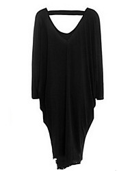 baratos -Mulheres Feriado / Para Noite Delgado Bainha Vestido Decote V Longo