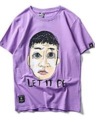 baratos -Homens Camiseta Estampado, Retrato