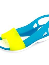 baratos -Mulheres Sapatos Sintéticos Verão Conforto Sandálias Sem Salto Azul / Rosa claro / Azul Real