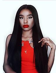 Недорогие -4 Связки Индийские волосы Прямой Натуральные волосы Человека ткет Волосы / One Pack Solution / Накладки из натуральных волос 8-28 дюймовый Естественный цвет Ткет человеческих волос