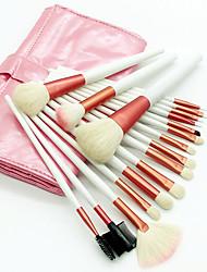 abordables -18pcs Pinceles de maquillaje Profesional Sistemas de cepillo Lana / Pincel de Pelo de Cabra Ecológica / Profesional / Suave Madera / Bambú