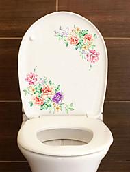 Недорогие -Наклейки для туалета - Наклейки для животных Животные / 3D Гостиная / Спальня / Ванная комната