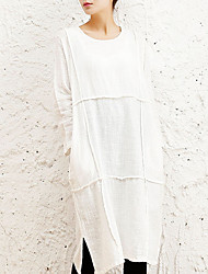 baratos -Mulheres Para Noite Solto Reto Vestido Cintura Baixa Médio