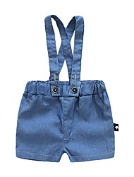 abordables -Bebé Chica Un Color Sin Mangas Pantalones