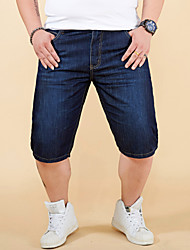 cheap -Men's Simple / Basic Jeans / Shorts Pants - Solid Colored