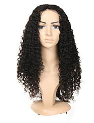 Недорогие -Натуральные волосы Полностью ленточные Парик Бразильские волосы Кудрявый Черный Парик Ассиметричная стрижка 130% 150% 180% Плотность волос с детскими волосами Без запаха Шерсть Новое поступление Мода