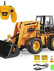 cheap -RC Car 6CH 2.4G Bulldozer / Construction Truck 1:20 Brush Electric KM/H