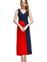 cheap -Women's Sophisticated / Elegant Bodycon / Little Black Dress - Color Block Patchwork