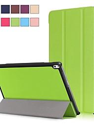 Недорогие -Кейс для Назначение Lenovo Lenovo Tab 4 10 Plus / Lenovo Tab 4 10 со стендом / Магнитный Чехол Однотонный Твердый Кожа PU
