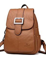 Недорогие -PU Однотонные рюкзак на открытом воздухе Черный / Красный / Коричневый