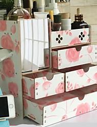 preiswerte -Holz Rechteck Neues Design / Cool Zuhause Organisation, 1pc Schmuck Aufbewahrung / Make Up Aufbewahrung