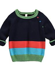 Недорогие -Дети (1-4 лет) Мальчики Однотонный Длинный рукав Свитер / кардиган
