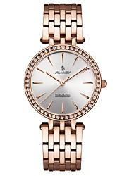 Недорогие -Жен. Нарядные часы Наручные часы Diamond Watch Японский Японский кварц Черный / Серебристый металл / Розовое золото 30 m Защита от влаги Повседневные часы Аналоговый Дамы Роскошь Мода - / Два года