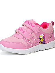 abordables -Fille Chaussures Maille / Polyuréthane Printemps été Confort Chaussures d'Athlétisme Marche Scotch Magique pour Adolescent Violet / Rose