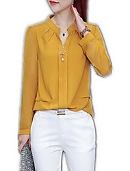 cheap -Women's Blouse - Solid Colored Patchwork