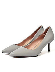 cheap -Women's Shoes Nappa Leather Spring / Fall Comfort / Basic Pump Heels Stiletto Heel Light Yellow / Light Grey / Nude
