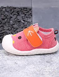preiswerte -Jungen / Mädchen Schuhe Leinwand Frühling & Herbst Lauflern Sneakers Klettverschluss für Baby Rot / Grün / Blau