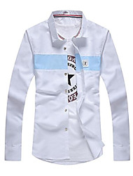 cheap -men's shirt - color block shirt collar