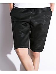 economico -Per uomo Attivo Taglie forti Cotone / Lino Harém / Pantaloncini Pantaloni - Tinta unita In bianco e nero, A pieghe