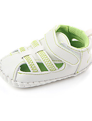 baratos -Para Meninas Sapatos Couro Ecológico Verão Primeiros Passos Sandálias Velcro para Bebê Verde / Azul / Rosa claro