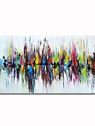 Недорогие -Современная ручка styledecor® нарисовала абстрактное красочное отражение на масляной живописи холста для настенного искусства, готового повесить искусство