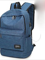 cheap -Unisex Bags Nylon School Bag Zipper Blue / Black / Light Grey