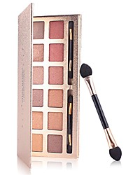 cheap -MISS ROSE 12 Colors Eyeshadow / Eyeshadow Palette / Powders EyeShadow Waterproof / Matte / Portable Natural Daily Makeup / Party Makeup Makeup Cosmetic
