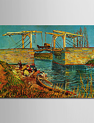cheap -Oil Painting Hand Painted - Famous Classic / Traditional Canvas