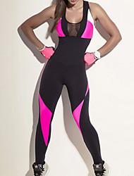 preiswerte -Damen See Through Overalls - Schwarz Sport Leggins Laufen, Fitness Sportkleidung Atmungsaktivität, Komfortabel Dehnbar