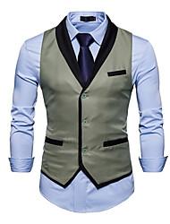 cheap -Men's Cotton Vest - Color Block / Sleeveless