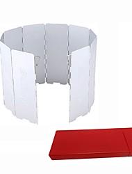 Недорогие -Походная тарелка / Походная горелка Один экземляр С защитой от ветра Твердый алюминий На открытом воздухе для Пешеходный туризм / Походы Белый
