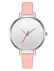Недорогие -Geneva Жен. Наручные часы Китайский Новый дизайн / Повседневные часы / Cool Кожа Группа На каждый день / Мода Коричневый / Розовый / Фиолетовый / Один год