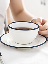 cheap -Drinkware Porcelain Tea Cup / Cup & Saucer Heat-Insulated / Boyfriend Gift / Girlfriend Gift 1 pcs