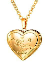 preiswerte -Damen Lang Anhängerketten - Medaillon, Jungfrau Romantisch, Modisch Gold, Silber 55 cm Modische Halsketten 1pc Für Geschenk, Alltag