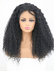 cheap -Synthetic Lace Front Wig Curly Layered Haircut Synthetic Hair Heat Resistant Black Wig Women's Long Lace Front Wig / Yes