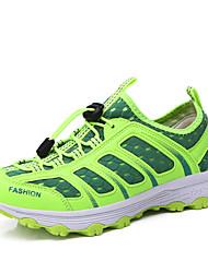 Недорогие -Жен. Обувь Сетка Лето Удобная обувь Спортивная обувь Для плавания / Дышащая спортивная обувь На плоской подошве Темно-серый / Зеленый / Розовый