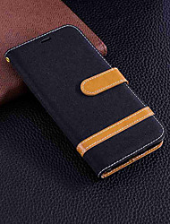 cheap -Case For Huawei Huawei Honor 7A / Huawei Honor 7C(Enjoy 8) Wallet / Card Holder / with Stand Full Body Cases Solid Colored Hard Textile for Honor 7X / Huawei Honor 7A / Huawei Honor 7C(Enjoy 8)
