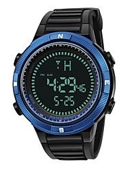 Недорогие -SANDA Муж. Спортивные часы электронные часы Японский Цифровой 30 m Защита от влаги Календарь Хронометр силиконовый Группа Цифровой Роскошь Мода Черный - Синий Золотистый Розовое золото / Фаза луны