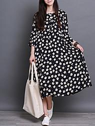 billige -Dame I-byen-tøj Skift Kjole Asymmetrisk