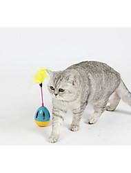 Недорогие -Игрушка с перьями Бокал / Милый пластик Назначение Собаки / Коты