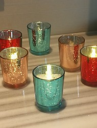 cheap -Modern / Contemporary / European Style Glass Candle Holders Handmade / Candelabra 6pcs, Candle / Candle Holder