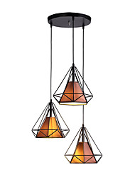 cheap -3-Light Geometric / Mini Pendant Light Downlight - New Design, 110-120V / 220-240V Bulb Not Included