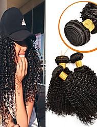 Недорогие -6 Связок Перуанские волосы Kinky Curly Натуральные волосы / Необработанные натуральные волосы Подарки / Косплей Костюмы / Человека ткет Волосы 8-28 дюймовый Естественный цвет Ткет человеческих волос