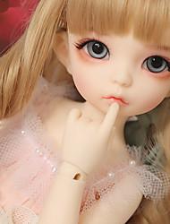 Недорогие -OuenElfs Кукла с шаром Блайт Кукла Девочки 10 дюймовый Полный силикон для тела - Искусственные имплантации Голубые глаза Детские Девочки Игрушки Подарок