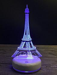 Недорогие -1шт 3D ночной свет USB Мультипликация / Новый дизайн / Креатив <5 V