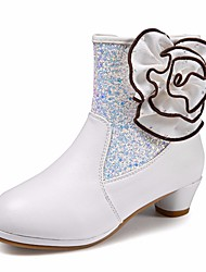 cheap -Girls' Shoes PU(Polyurethane) Fall & Winter Comfort / Fashion Boots Boots for White / Booties / Ankle Boots