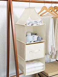 abordables -Coton / Tissus Rectangle Design nouveau / Créatif Accueil Organisation, 1pc Tiroirs / Organisateurs de Placards / Rangement d'Etagères